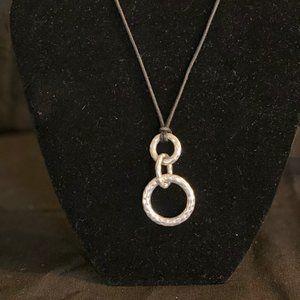 Lia Sophia Silver cord necklace